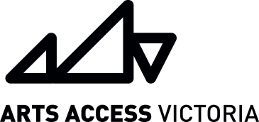 Arts Access Victoria Logo - Black - RGB